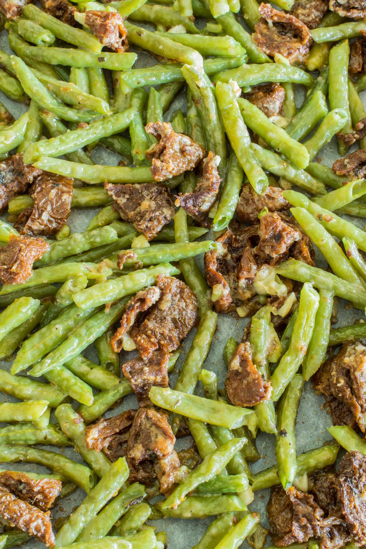 Rezept für leckere Buschbohnen aus dem Ofen