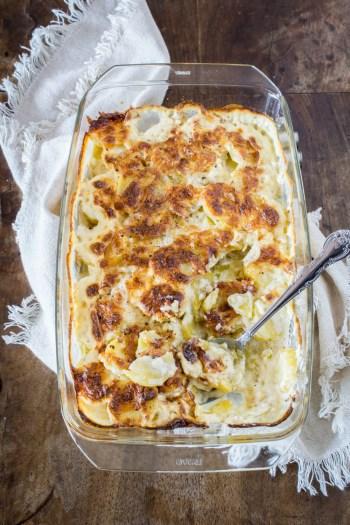 Kartoffelgratin mit Pecorino | Einfaches Rezept