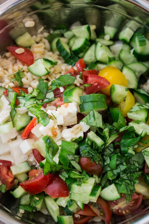 Zutaten für griechischen Ebly-Salat