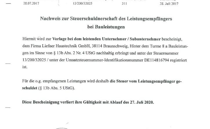 thumbnail of Liefner_Haustechnik_GmbH_Nachweis_Steuerschuldnerschaft