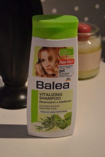 balea shampoo, balea vitalizing shampoo rosmarin + melisse