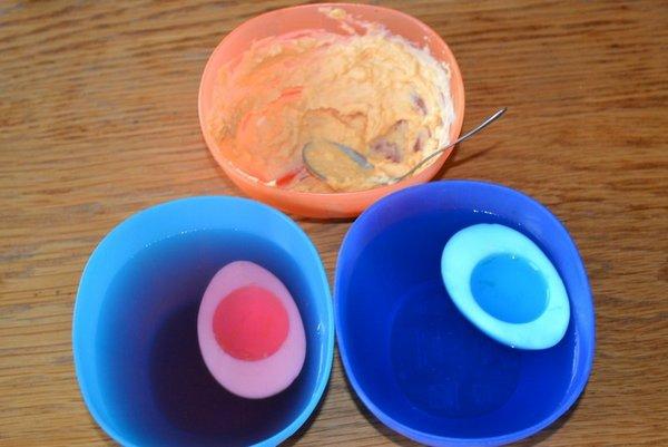 gekleurde eieren