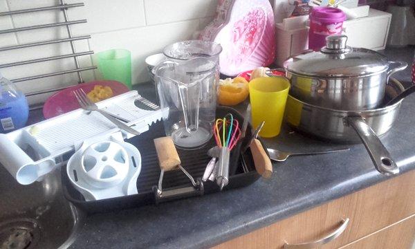 heel veel afwas
