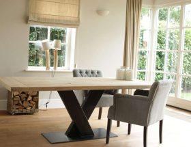Industriële tafel Dublin. 5x mooiste eiken tafels, eiken tafels, tafels99