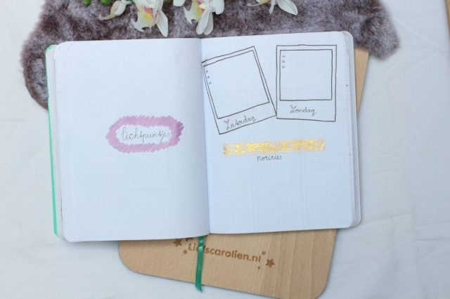 lichtpuntjes, bullet journal, juni