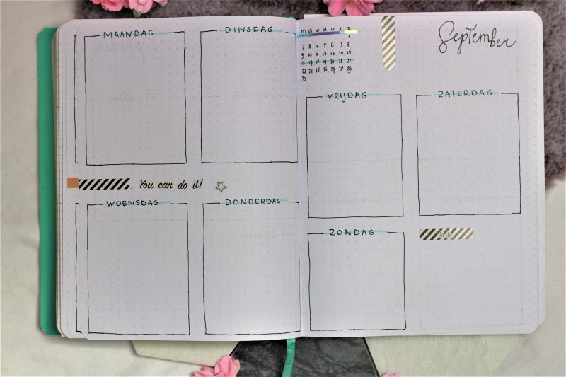weekplanning bullet journal september 2019