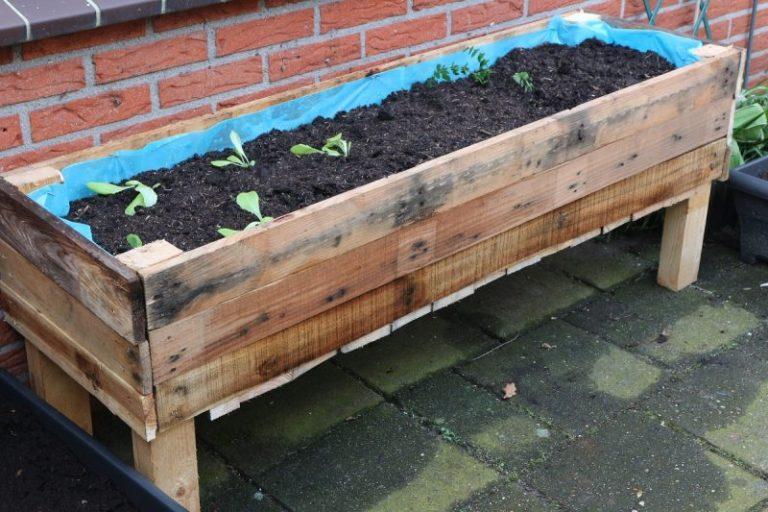 zelf je plantenbak maken, moestuin plantenbak maken