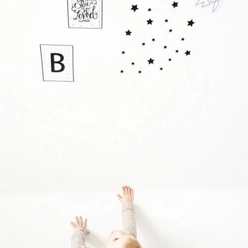Sterren muurstickers kinderkamer babykamer