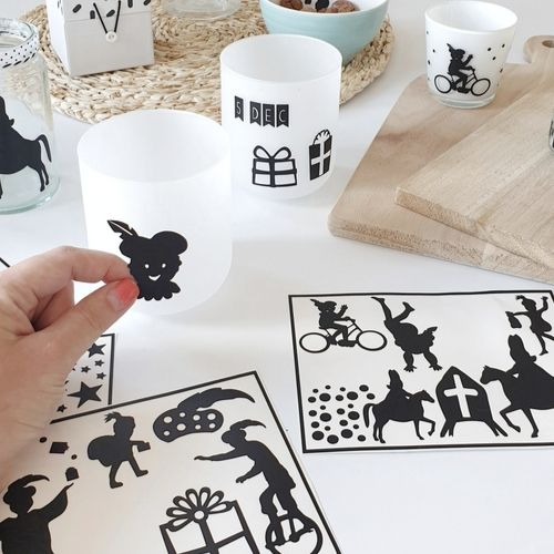 DIY Stickers Sinterklaas