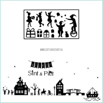 Sinterklaas raamstraatje plaatjes