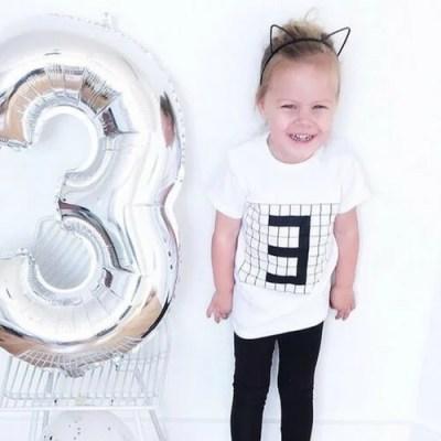 verjaardagsshirt drie jaar