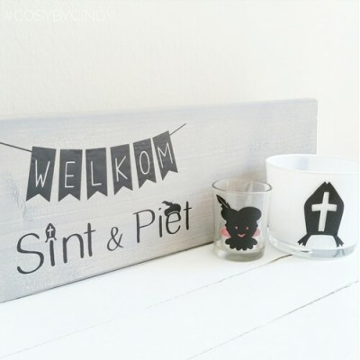 Sticker welkom Sint en Piet