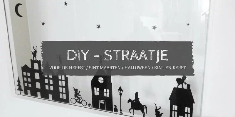 stickers straatje raam