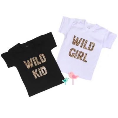 Shirt met tijgerprint tekst kinderkleding