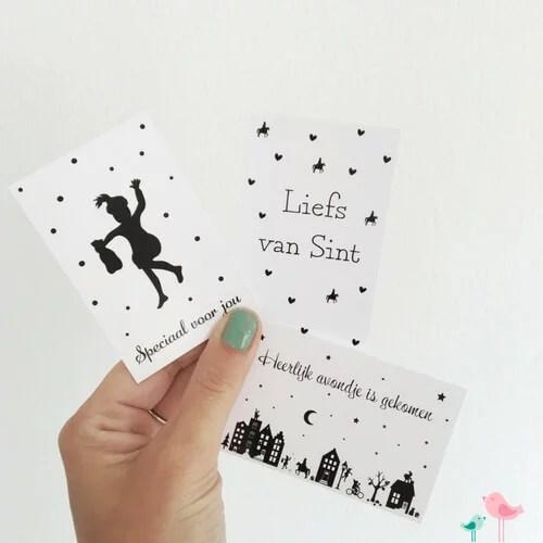 Sinterklaas cadeaukaartjes labels