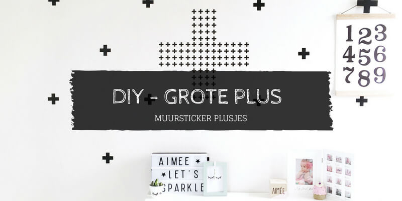 Muursticker grote plus DIY plusjes