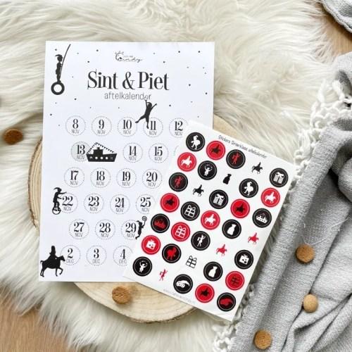 Aftelkalender Sinterklaasstickers