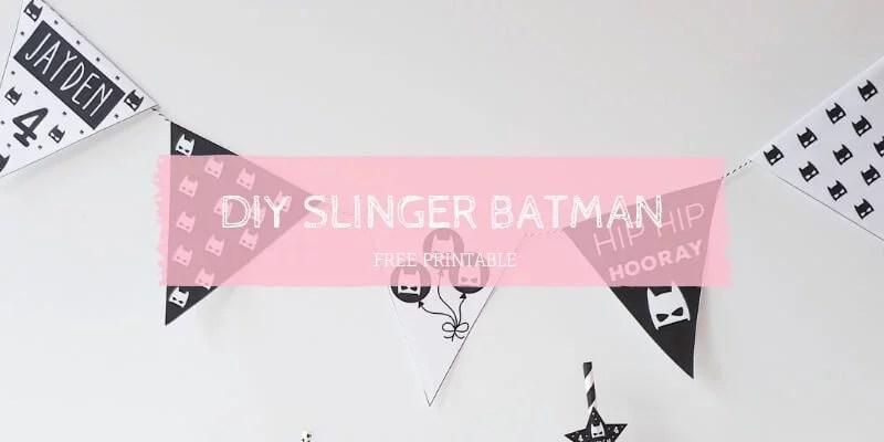 DIY slinger batman feestje inspiratie