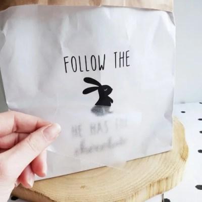 DIY sticker pasen zwart wit