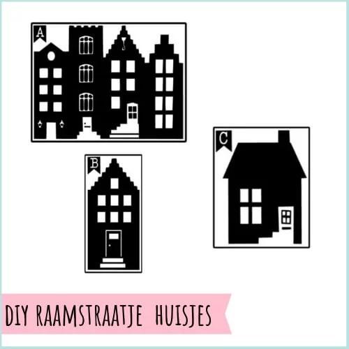 Huisjes voor op het raam straatje