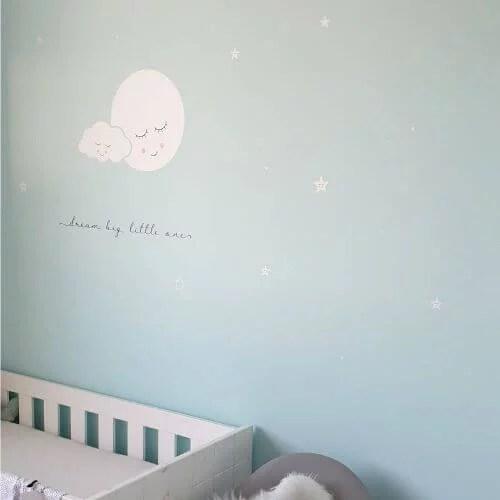 Muursticker babykamer wolk en maan
