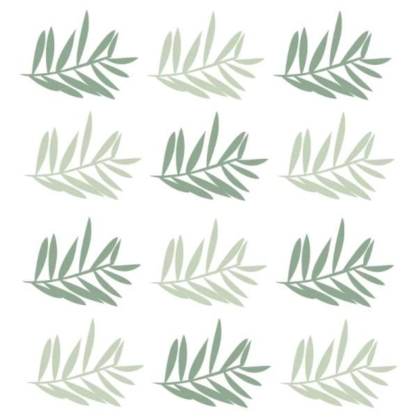 Muurstickers groen takjes
