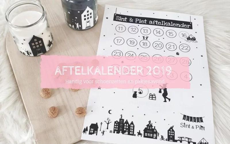 Aftelkalender 2019 Sinterklaas schoenzetten pakjesavond
