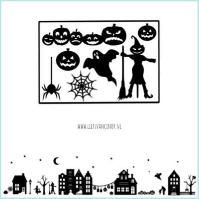 Raamstraatje halloween plaatjes