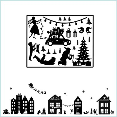 kerstafbeeldingen raamstickers