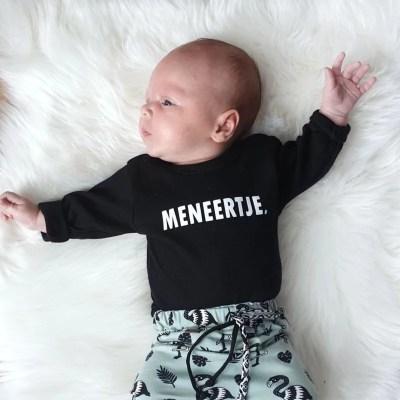 Meneertje shirt babykleding
