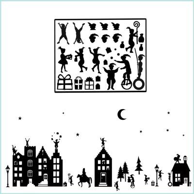 Sinterklaas plaatjes raamstickers