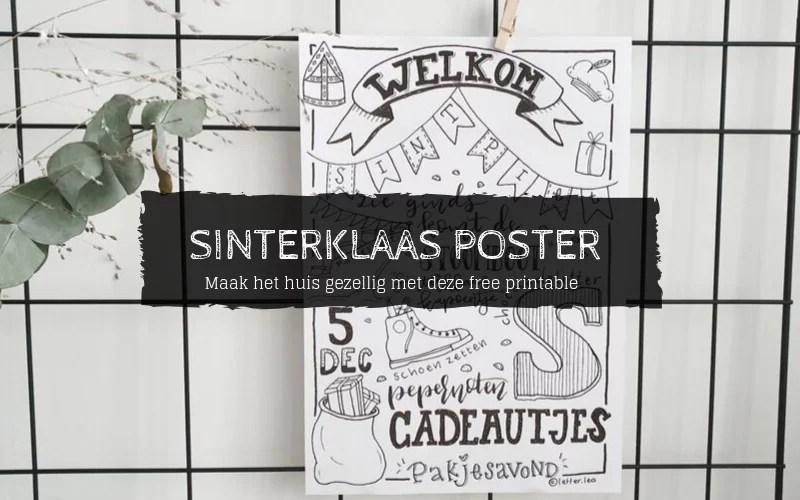 Free Printable Sinterklaas poster