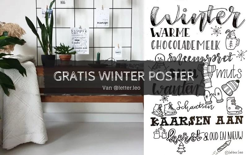 Winterposter gratis downloaden