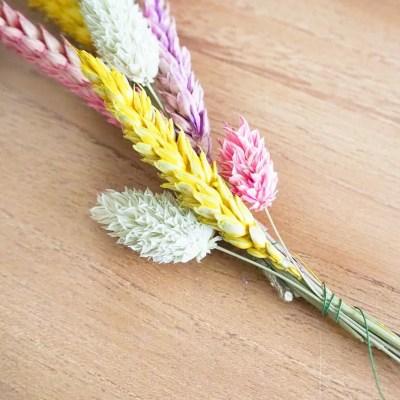 Knutselen met droogbloemen