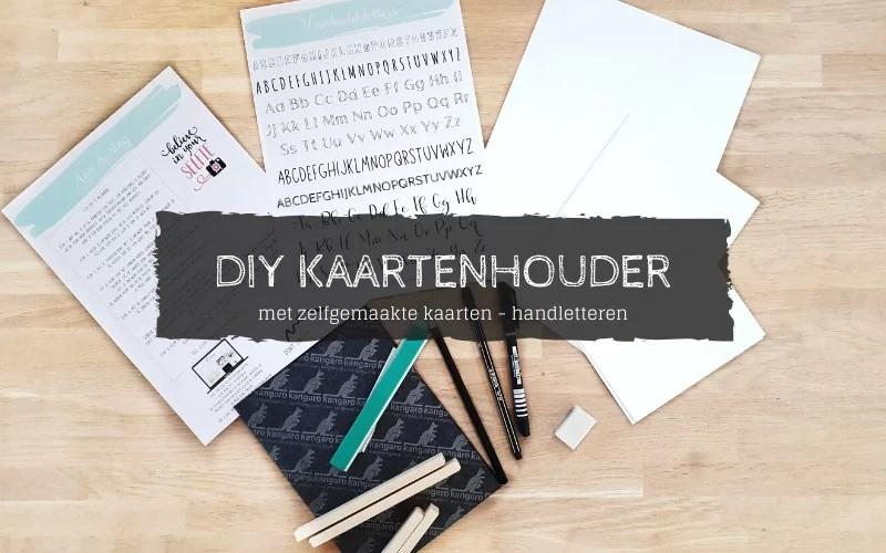 DIY kaartenhouder met kaarten letteren