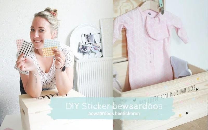 DIY Sticker bewaardoos, liefs van Cindy, opbergdoos pimpen