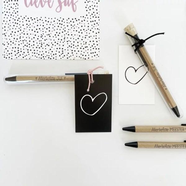 Pen voor juf en meester cadeautje