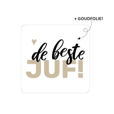 Sticker voor de beste juf