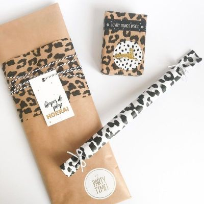 cheetah kraft cadeaupapier