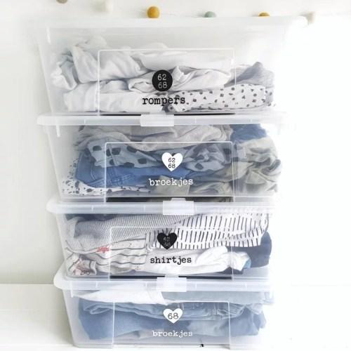 babykleding opruimen netjes
