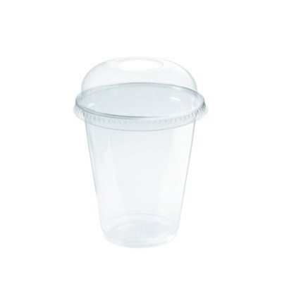 Plastic beker met deksel traktatie