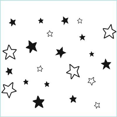 muurstickers sterren open en dicht