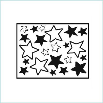 sterren muurstickers open en dicht mix