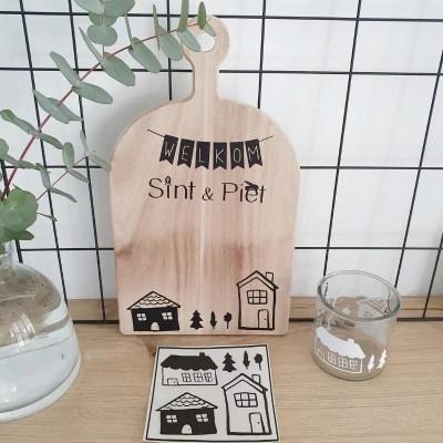 DIY Stickers huisjes