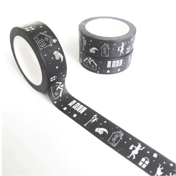 Washi tape zwart wit sinterklaas