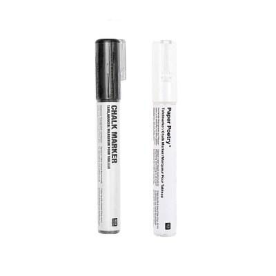 Krijtstift zwart en wit