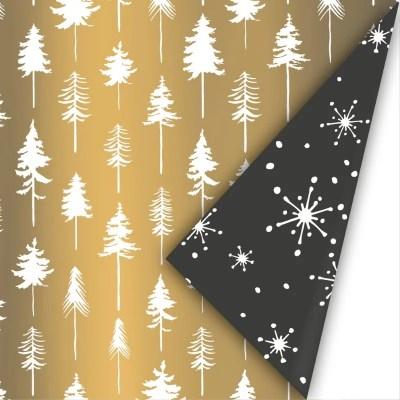 Luxe kerstpapier dubbelzijdig