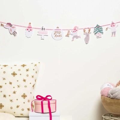 Vrolijke kerstslinger
