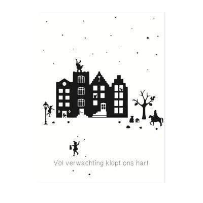 Sinterklaas poster zwart wit