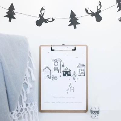 Poster winter kerst
